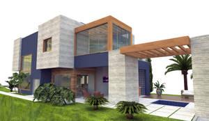Casa de Férias: Casas modernas por Patricia Moreno A R Q U I T E T U R A