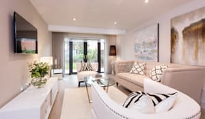 غرفة المعيشة تنفيذ SMB Interior Design Ltd