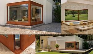 Casas de estilo moderno por Lens Puertas de Aluminio.