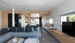 Soggiorno in stile in stile Minimalista di HD Arquitectura d'interiors
