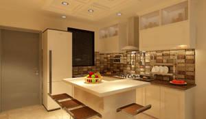 MINIMALIST MODULAR KITCHEN: minimalistic Kitchen by MAD DESIGN