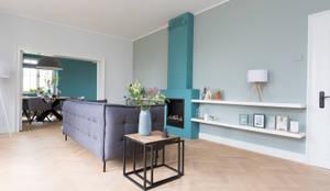 رہنے کا کمرہ  by Mignon van de Bunt Interieurontwerp, Styling & Realisatie