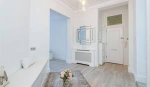 Hallway Entrance: modern Corridor, hallway & stairs by Patience Designs
