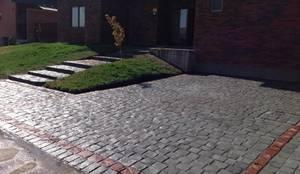 Adoquin piedra cantera: Jardines de estilo  por Instalamos.cl