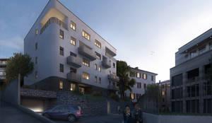 Residenza Green Building: Case in stile in stile Moderno di arlan.ch atelier d'architettura