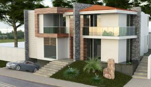 Exterior : Casas multifamiliares de estilo  por EBA Architecture & Desing ,