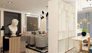 Pasillos, vestíbulos y escaleras de estilo  por HC Interiores