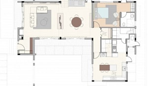 Residential Vila SK Whitefield | Bangalore | India: Comedores de estilo moderno de Studioapart