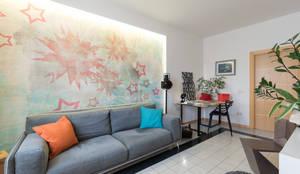 Salas de estar industriais por B+P architetti