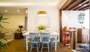 APARTAMENTO CENTRO II: Salas de jantar rústicas por Join Arquitetura e Interiores