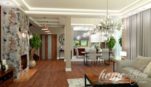 غرفة المعيشة تنفيذ Home Atelier