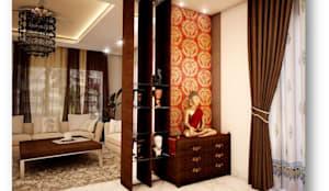 Some Previous Works: colonial Living room by BVM Intsol Pvt. Ltd.