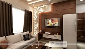 Residence at Rohini, New Delhi:  Living room by Design Essentials