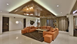 CAPITAL GREEN - 1: asian Living room by SPACCE INTERIORS