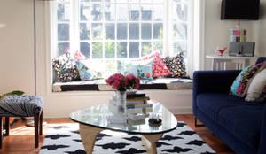 Remodelación Brown: Livings de estilo moderno por RENOarq