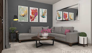 modern Living room by Residenza by Diego Bibbiani