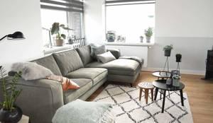 Appartement Katwijk : scandinavische Woonkamer door CM Interieurarchitect