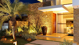 Residência RK: Casas familiares  por Chris Brasil Arquitetura e Interiores