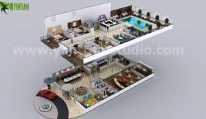 Conceptual Multistory Hotel Virtual Floor Plan By Yantram 3d Floor Design