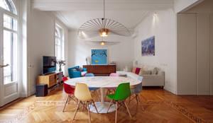 Salas de estar modernas por Chantal Forzatti architetto