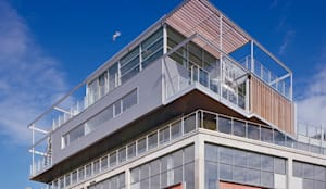 Penthouse Nautilus - Scheveningse Haven:  Prefab woning door Archipelontwerpers