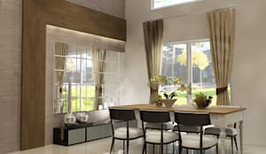 Dining Room:  Ruang Makan by AIRE INTERIOR