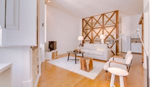 Apartamento Rua Boavista / Lisboa - Apartment in Rua Boavista / Lisbon: Salas de estar modernas por Ivo Santos Multimédia