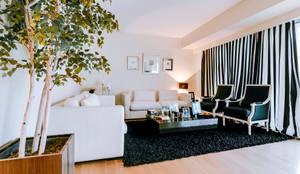 Apartamentos Laranjeiras Lisboa - Apartments Laranjeiras Lisbon: Salas de estar modernas por Ivo Santos Multimédia