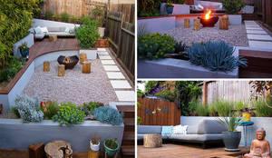 Jardin 02: Jardines de piedra de estilo  por Eckostudio Horter S.A. de C.V.
