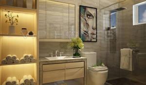 Thiết kế nội thất Villa MELOSA GARDEN:  Phòng tắm by Công ty TNHH Vip Homes