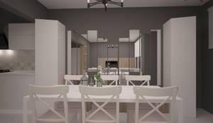 Deniz Gökçe Mimarlık ve İnşaat – Yemek Odası: modern tarz Yemek Odası