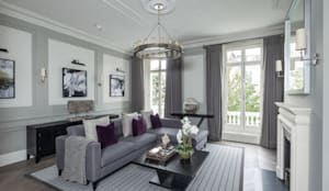 Kensington Town House: modern Living room by London Home Staging Ltd