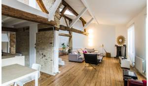 Salas de estar industriais por TALLER VERTICAL Arquitectura + Interiorismo