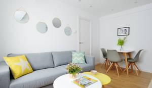 Salas de estar escandinavas por Noelia Villalba