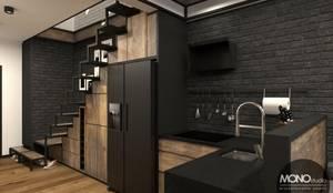Kuchnia w klimacie industrialnym: styl , w kategorii Kuchnia zaprojektowany przez MONOstudio,Industrialny