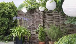 Sichtschutz aus Haselnuss ohne Rahmen:  Garten von naturgeflechte24