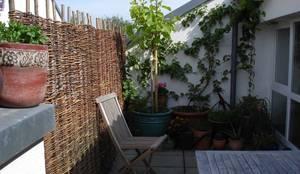 Weidenzaun als Sichtschutz für Balkon:  Garten von naturgeflechte24