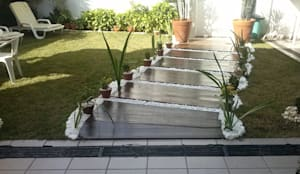 Projekty,  Ogród zaprojektowane przez STUDIO ROCHA ARQUITETURA E DESIGN DE INTERIORES