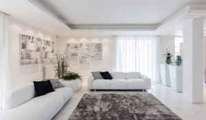 Salones de estilo minimalista de Morelli & Ruggeri Architetti