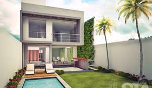 : Jardines de estilo  por Soluciones Técnicas y de Arquitectura