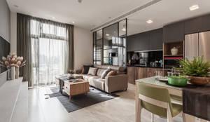 minimalistische Wohnzimmer von E&C創意設計有限公司