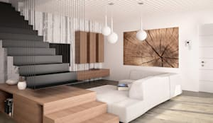 modern Living room by Marlegno