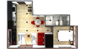 Planta: Casas de estilo industrial de M2 Al Detalle
