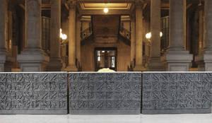 Acceso MUNAL Museo Nacional de Arte CDMX: Pasillos y recibidores de estilo  por Ariel Rojo Design Studio