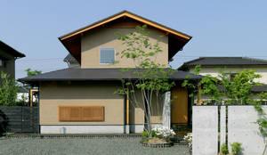 北東 外観: 竹内建築設計事務所が手掛けた家です。