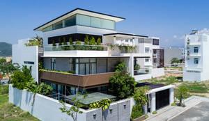 Maisons de style de style Moderne par Cty TNHH MTV Kiến trúc, Xây dựng Phạm Phú & Cộng sự - P+P Architects