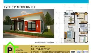 TYPE P MODERN 01:  บ้านและที่อยู่อาศัย by P Knockdown Style Modern