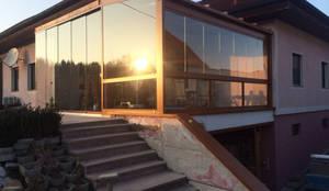 balkon berdachung aus aluminium glas por schmidinger winterg rten fenster verglasungen homify. Black Bedroom Furniture Sets. Home Design Ideas