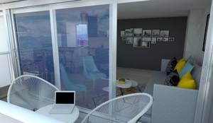 Balcon: Casetas de jardín de estilo  por Naromi  Design