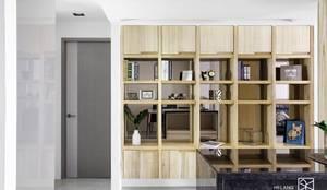 開放收納櫃:  書房/辦公室 by 禾廊室內設計